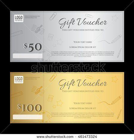 Gift Voucher Gift Certificate Template Luxury Stock Vector ...
