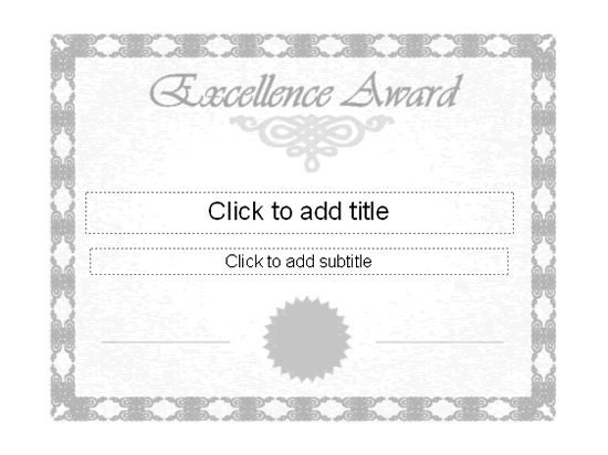 Excellence Award Certificate - Free Certificate Templates In ...