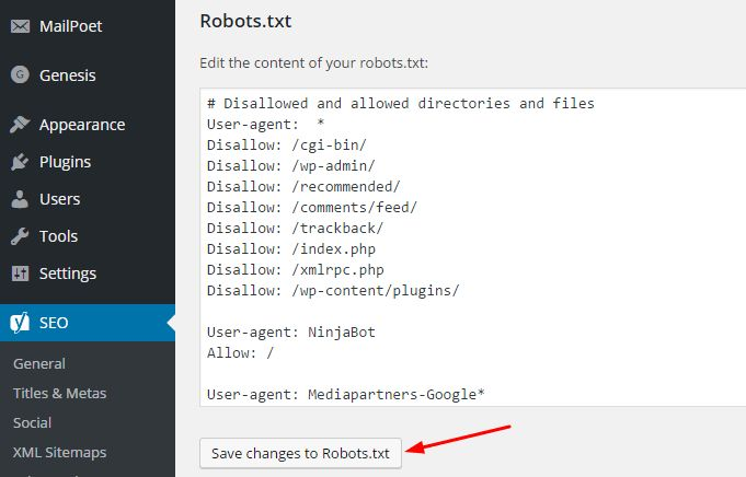 How To Make Wordpress Robots.txt File And Place In Wordpress For ...