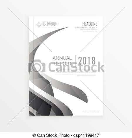 EPS Vector of Annual report business statistics template for ...