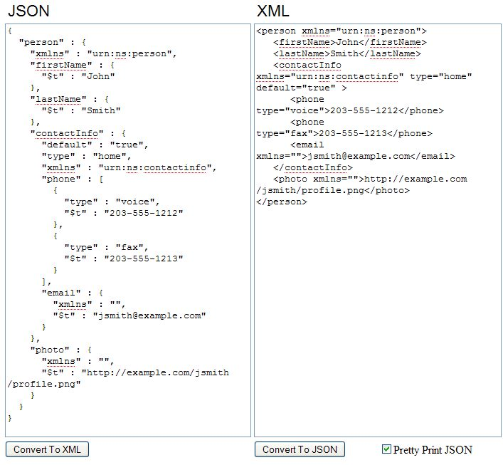 ActiveVOS XML and JSON Bindings for Services
