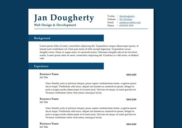 50 Free Responsive HTML5 Web Templates | Professional resume ...