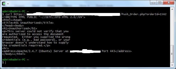 http status code 401 - curl 401 Unauthorized error - Stack Overflow