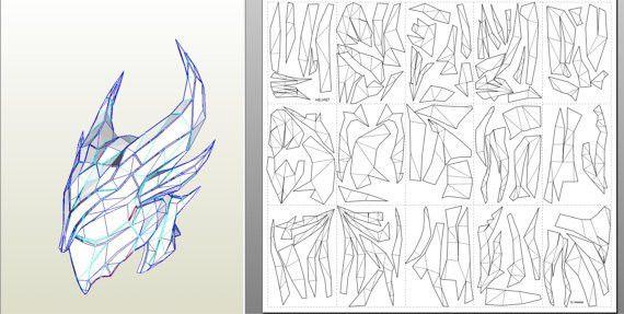 Skyrim Daedric armor suit replica patterns for pepakura EVA