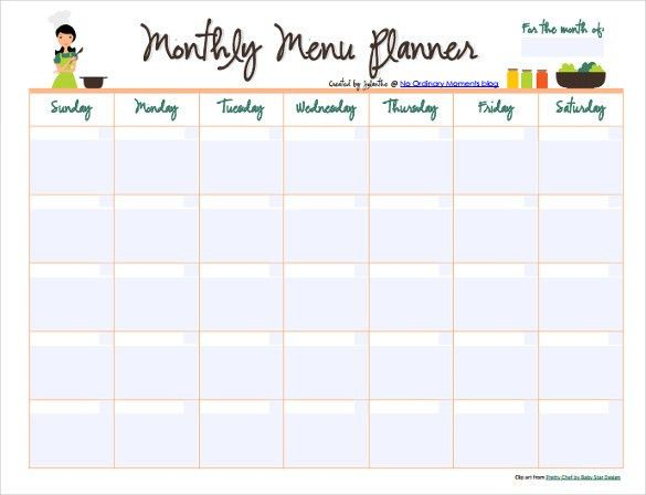 Monthly Menu Template – 12+ Free PSD, EPS Format Download! | Free ...