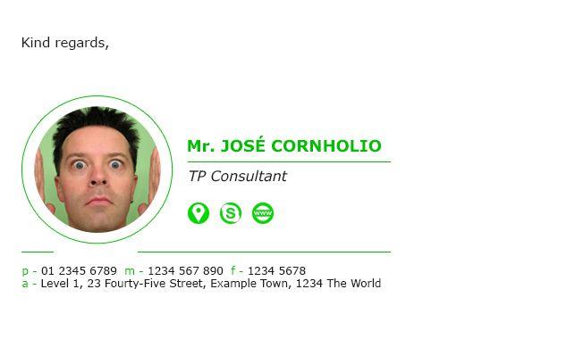 Free Professional Email Signature Templates - ZippySig