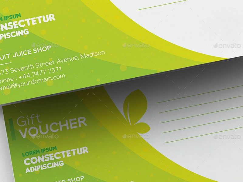 Fruit Juice Shop/ Gift Voucher and Name Card Template by wutip2 ...