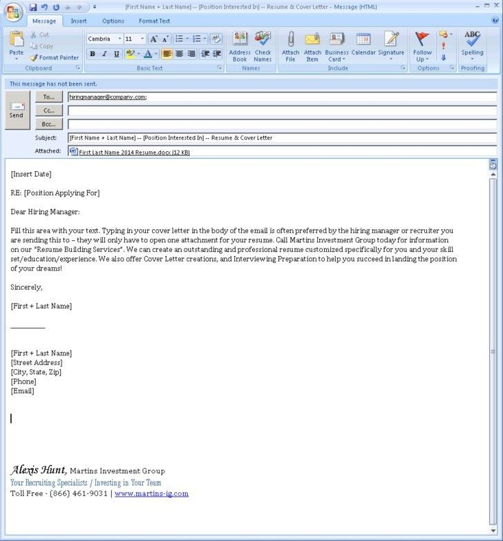 Download Email Cover Letter Example | haadyaooverbayresort.com