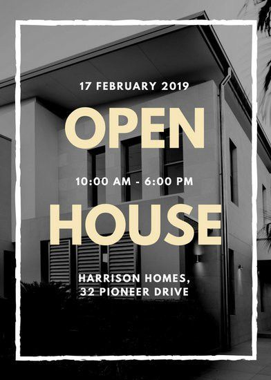 Black and White Photo Open House Flyer - Templates by Canva
