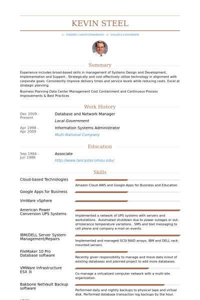 Network Manager Resume samples - VisualCV resume samples database