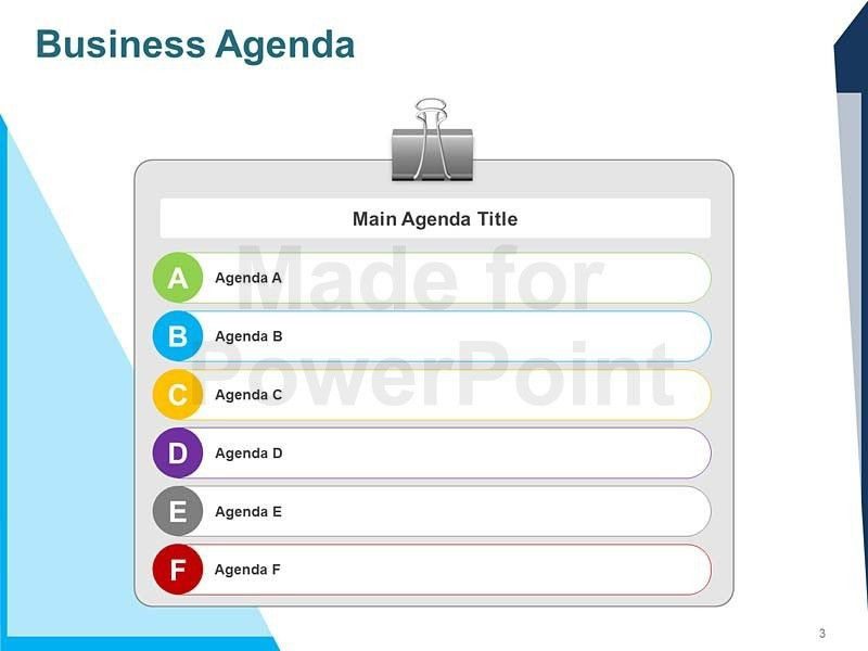 meeting agenda template powerpoint or summary layout in powerpoint ...