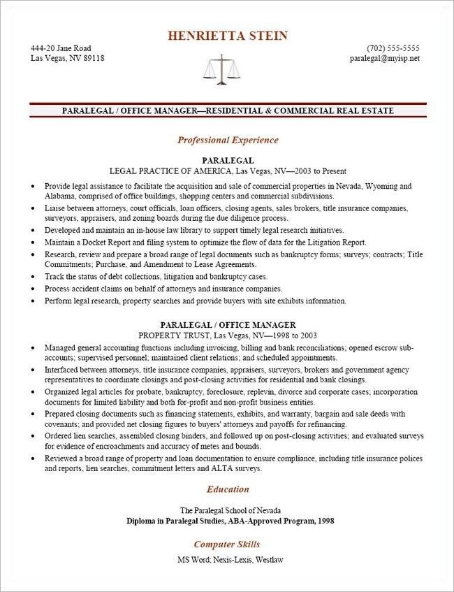 Litigation Paralegal Resume | The Best Resume