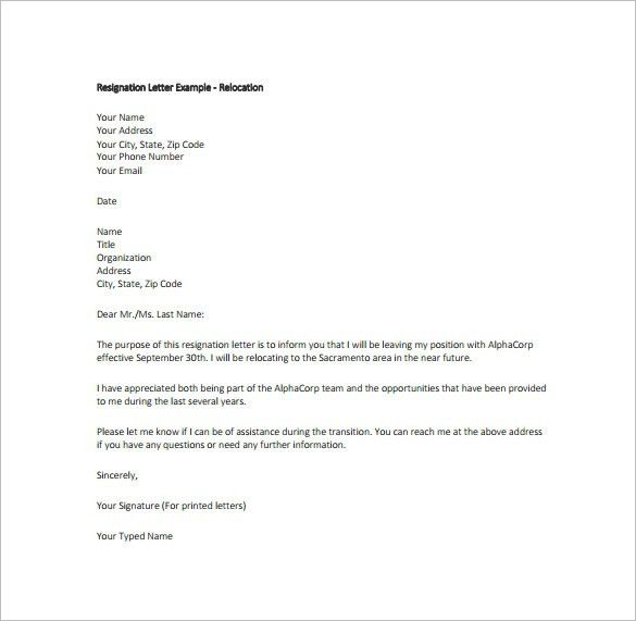 How To Format A Resignation Letter Sample Of Resignation Letter ...