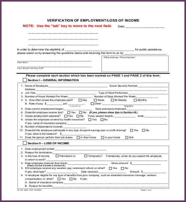 Nationality Verification Form Sample | CvsampleformcomVerification ...