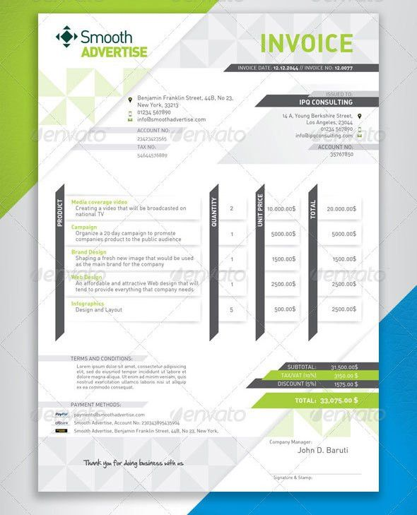 37 Best PSD Invoice Templates For Freelancer | Web & Graphic ...