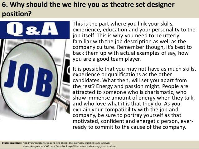 Top 10 theatre set designer interview questions and answers