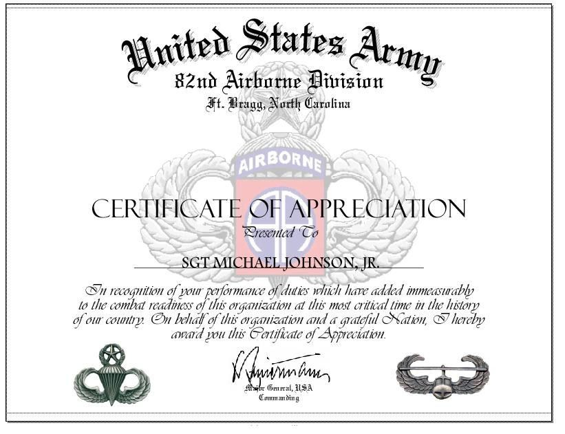 VARIOUS ARMY CERTIFICATES, POSTERS, SPECIAL FORCES, RANGER, AIRBORNE