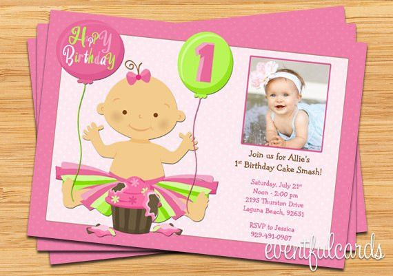 Free Printable 1st Birthday Party Invitations | Drevio Invitations ...