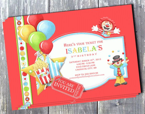 11 Marvelous Circus Birthday Party Invitations | THERUNTIME.COM