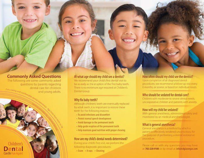 Children's Dental Group Trifold-Brochure Design & Printing - Flyer ...