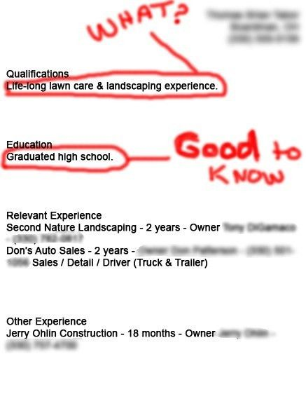 example of a bad resumes