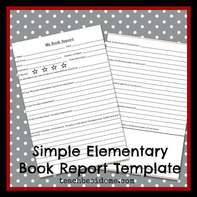 22 best Elementary images on Pinterest | Book report templates ...
