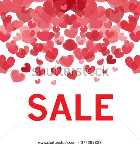 Sale Text Valentines Day Sale Badge Stock Vector 374293828 ...