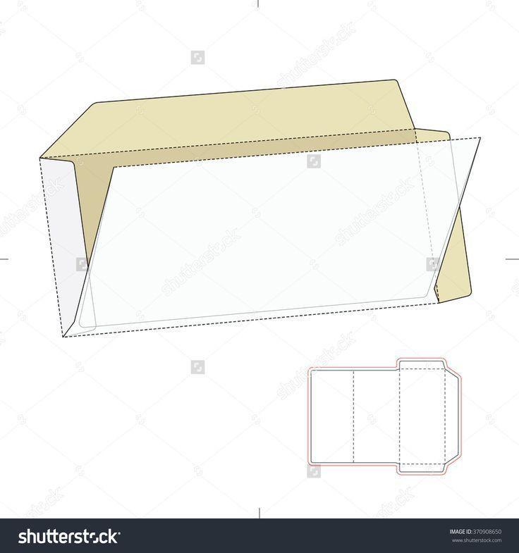 Custom Envelope With Die Cut Template Stock Vector Illustration ...