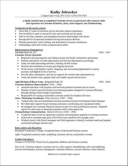 Resume Example For Jobs | Resume Badak