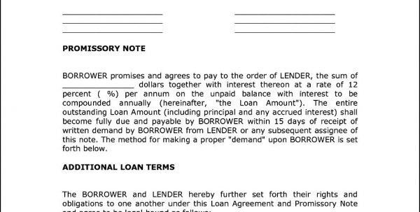 Personal Loan Agreement Contract Template Bank Loan Agreement ...