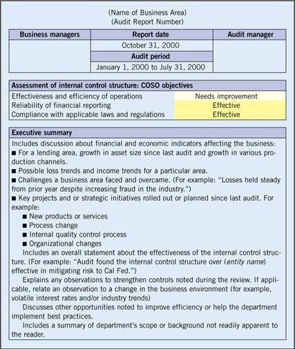 internal audit report template word