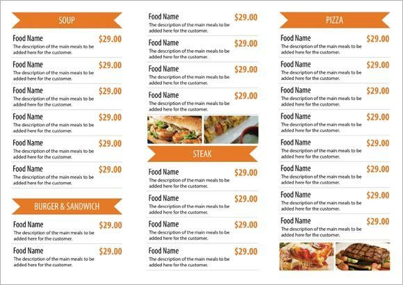 Free Restaurant Menu Templates | Samples and Templates
