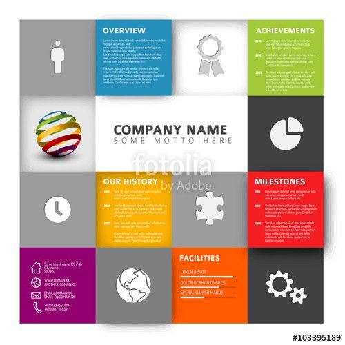 "Mosaic Company profile template"" Stock image and royalty-free ..."