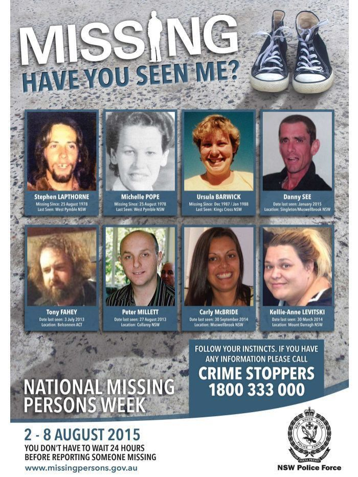 NSW Missing Persons Week poster for 2015 - ABC News (Australian ...