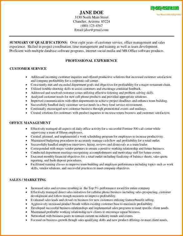 3+ customer service resume objective examples | worker resume