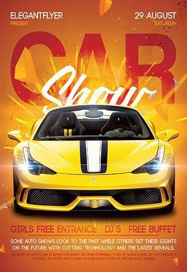 Car Show – Free Flyer PSD Template + Facebook Cover – by ElegantFlyer