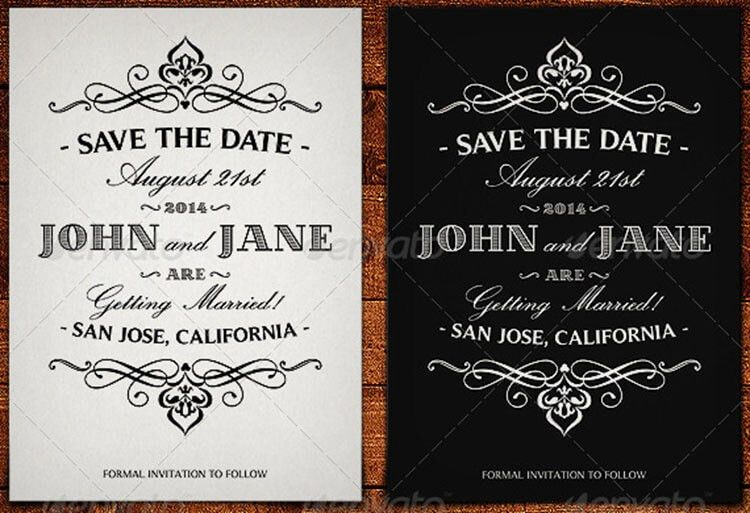 Free Printable Save The Date Card Templates | Creativetemplate ...