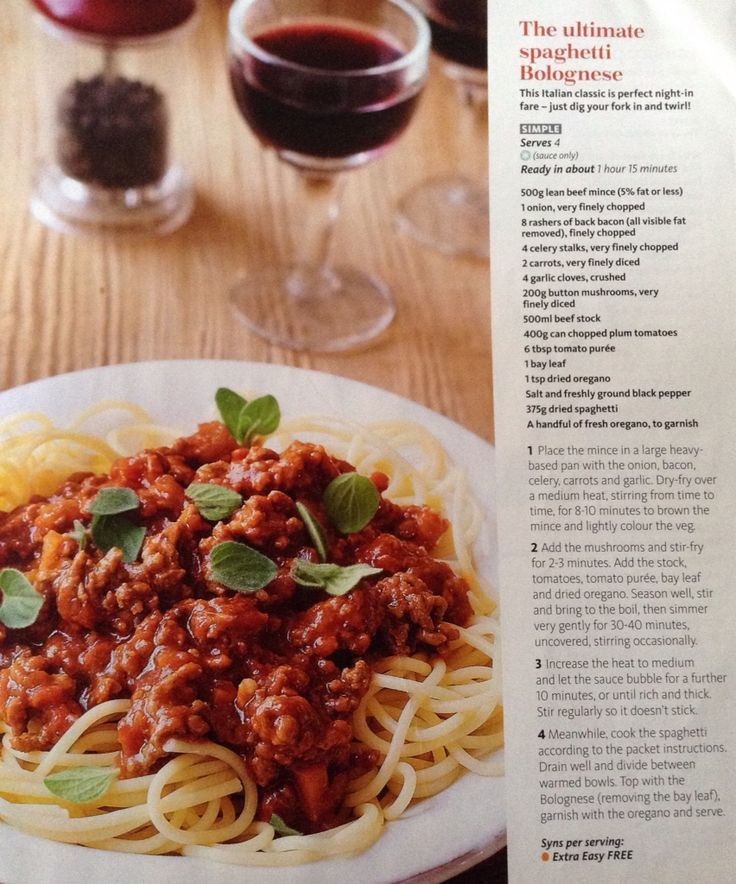 Best 20+ Slimming world spag bol ideas on Pinterest | Slimming ...