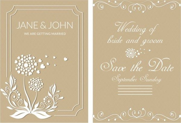 Wedding card design template free vector download (22,324 Free ...