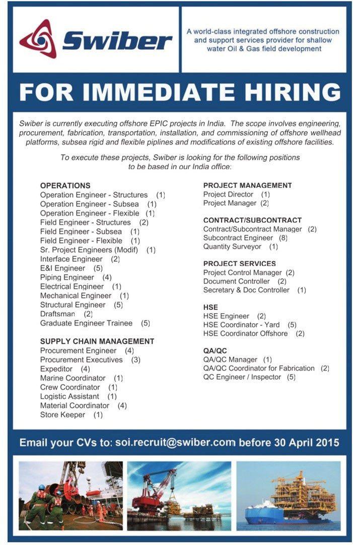 Job - Piping Engineer - India - Engineering, Civil and ...