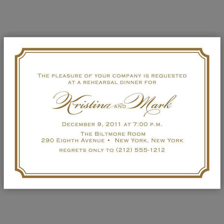93 best Rehearsal dinner invitations images on Pinterest ...