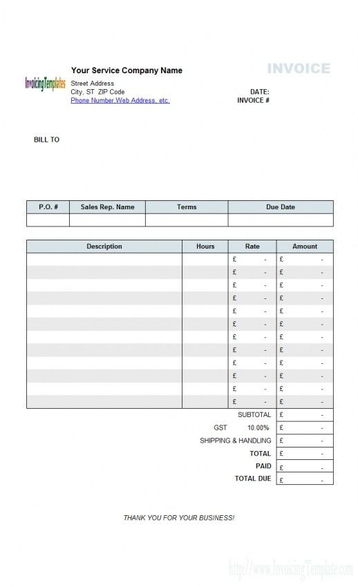 Download Uk Invoice Template Doc | rabitah.net