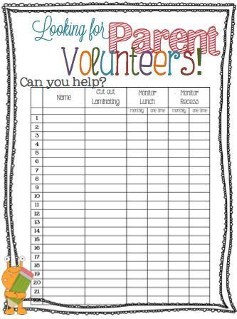 10 best sign up sheets images on Pinterest | Classroom ideas ...
