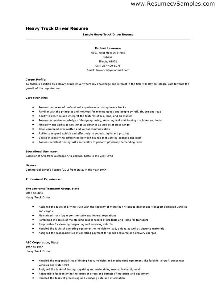 sample trucking resume sample trucking resume sample trucking ...