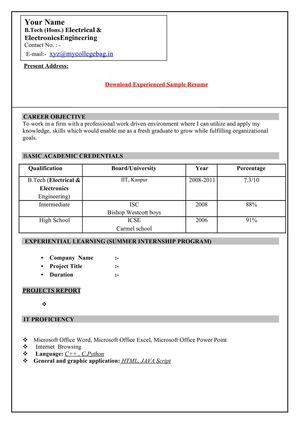 Calaméo - Resume format for freshers download