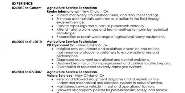Agriculture Resume Builder Agriculture Resume Template Resume ...