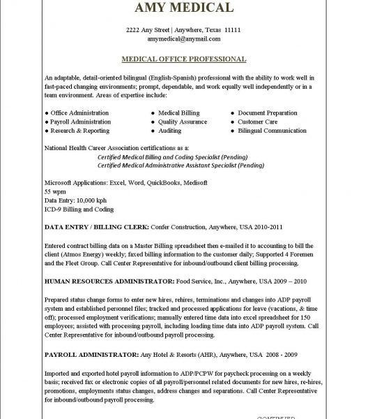 Medical Billing Resume Examples. Top 8 Medical Billing Manager ...