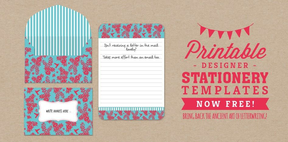 FREE Letter Writing Stationery Template – Hummingbird Habitat ...