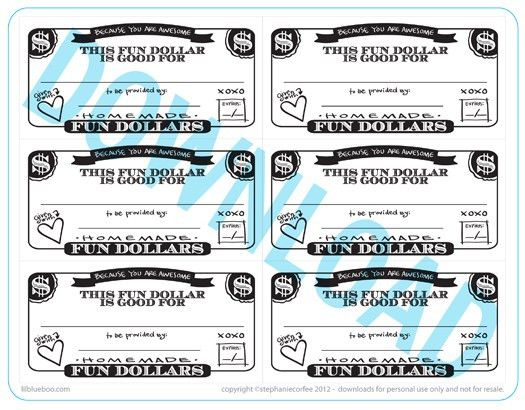 Fun Dollar Coupons | A Free Printable