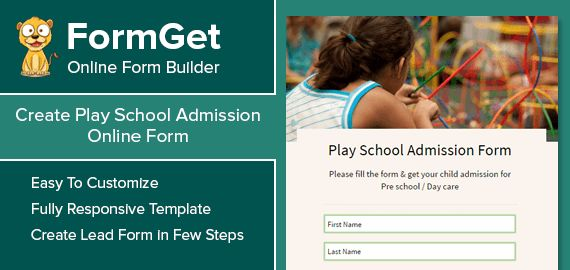 FormGet] - Create Play School Admission Form For Play Nurseries ...